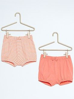 Short, bermuda - Lot de 2 shorts de plage en coton