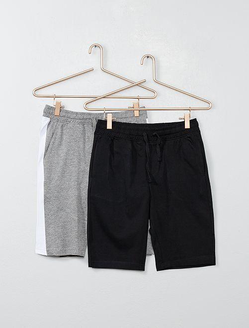 Lot de 2 shorts de sport                             gris/noir Garçon adolescent