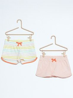 Short, combishort - Lot de 2 shorts en coton