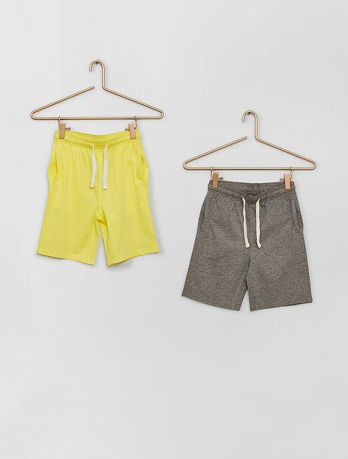 Lot de 2 shorts en jersey                                                     jaune