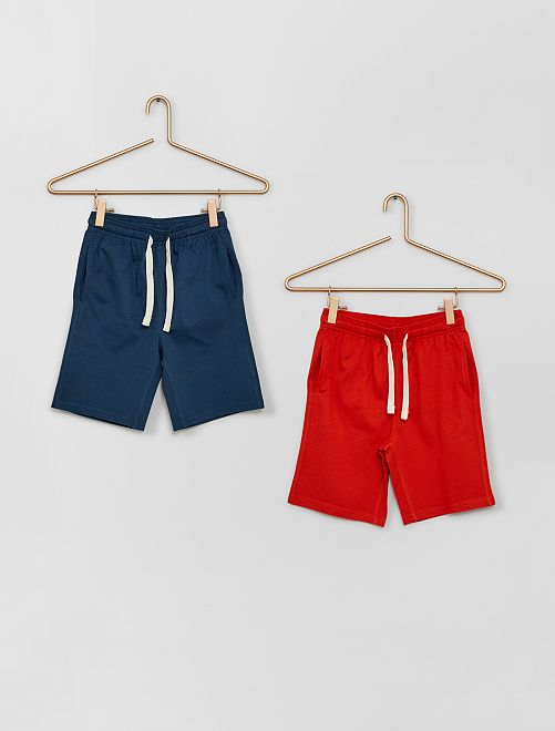 Lot de 2 shorts en jersey                                                     rouge