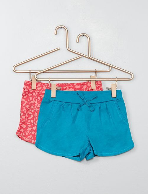 Lot de 2 shorts légers                                                                                         bleu/rose