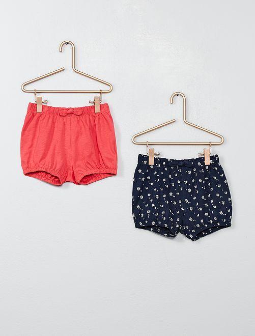 Lot de 2 shorts                                                                             marine/rose Bébé fille