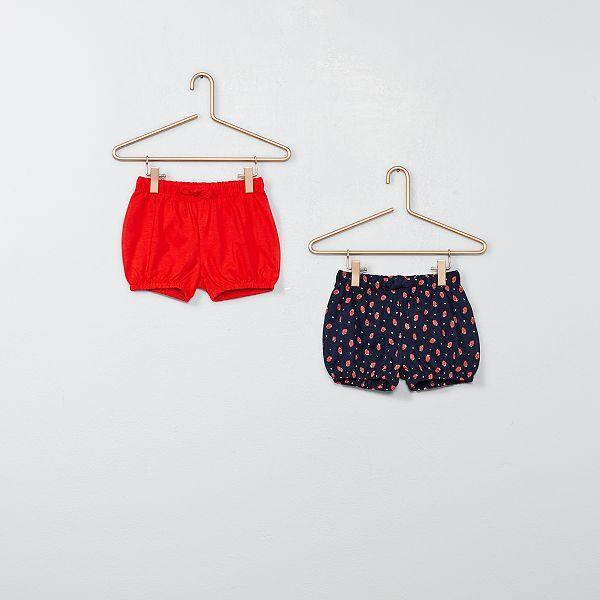 images détaillées belle et charmante jolie et colorée Lot de 2 shorts