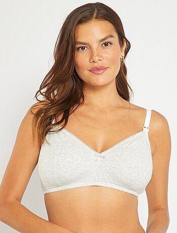 Lot de 2 soutiens-gorge d'allaitement en coton - Kiabi