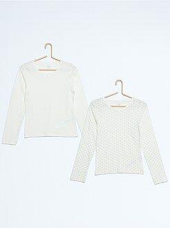 Sous-vêtement - Lot de 2 t-shirt manches longues