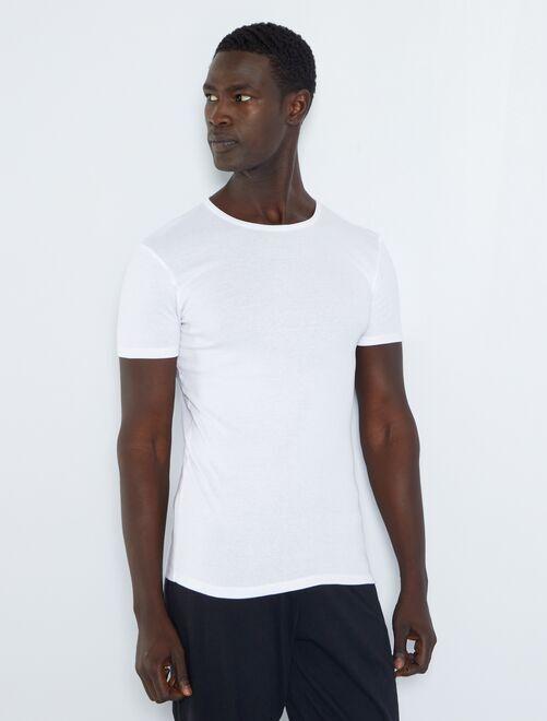 Lot de 2 T-shirts coton bio                             blanc