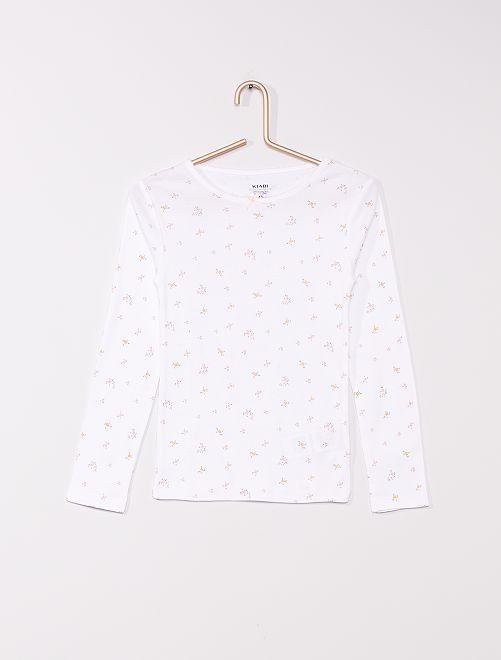 Lot de 2 t-shirts éco-conçus                             blanc