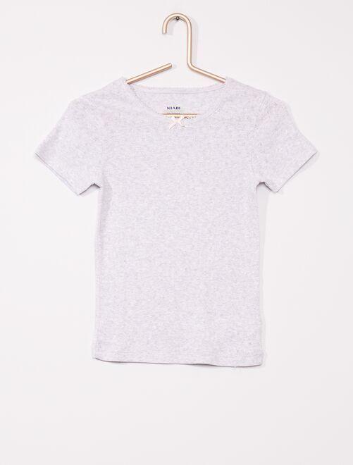 Lot de 2 T-shirts                             gris/blanc