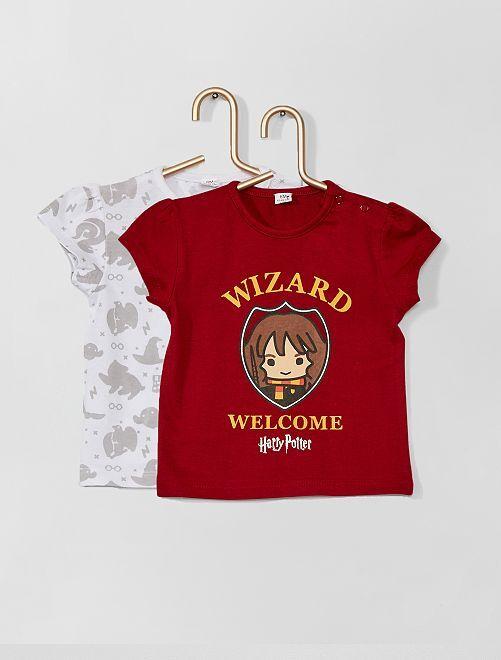 Lot de 2 t-shirts 'Harry Potter'                             bordeaux