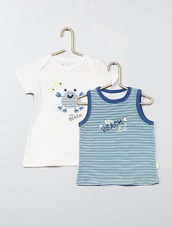 Lot de 2 t shirts `Petit Beguin`