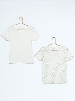 Fille 3-12 ans Lot de 2 t-shirts pur coton
