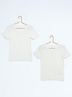 Sous-vêtement - Lot de 2 t-shirts pur coton