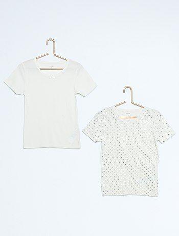 Lot de 2 t shirts pur coton