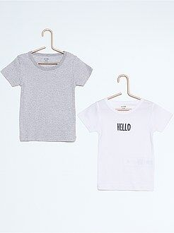 Fille 4-12 ans Lot de 2 tee-shirt coton