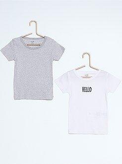 Fille 3-12 ans Lot de 2 tee-shirt coton