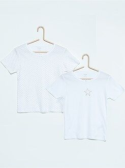 Fille 3-12 ans Lot de 2 tee-shirts en coton