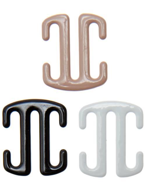 Lot de 3 attaches bretelles                              noir/blanc/cha Lingerie du s au xxl