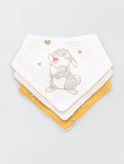 Lot de 3 bavoirs 'Disney Baby'                                         écru/beige/jaune
