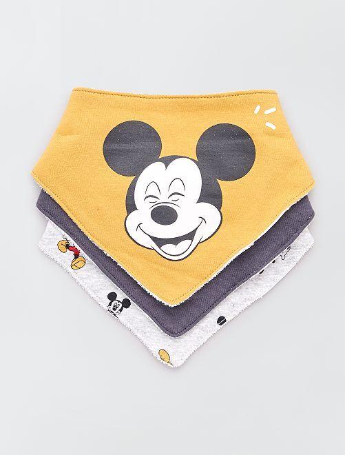 Lot de 3 bavoirs 'Disney Baby'                                         jaune/anthracite/gris chiné