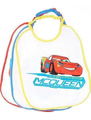 Lot de 3 bavoirs 'Flash McQueen' 'Disney'