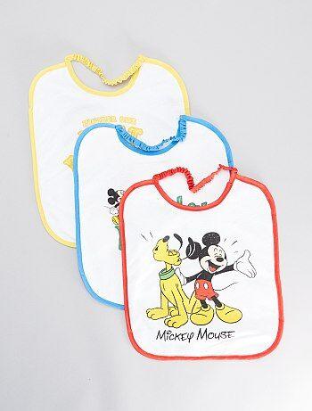 Lot de 3 bavoirs 'Mickey''