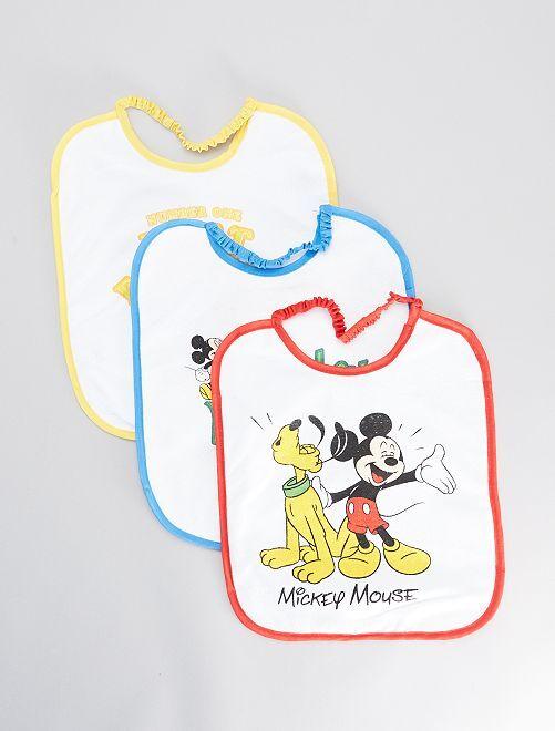 Lot de 3 bavoirs 'Mickey''                             blanc