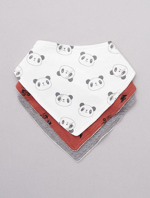 Lot de 3 bavoirs 'panda'                                         panda Bébé garçon