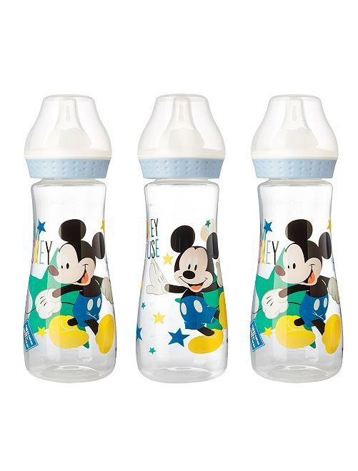 Lot de 3 biberons de 250 ml 'Mickey'                                                     bleu
