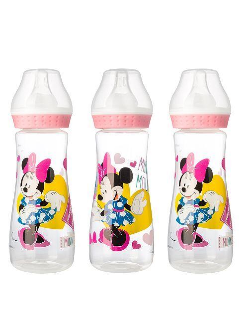 Lot de 3 biberons de 250 ml 'Minnie'                                                     rose Bébé fille