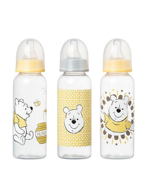 Lot de 3 biberons de 250 ml 'Winnie'                                                     jaune