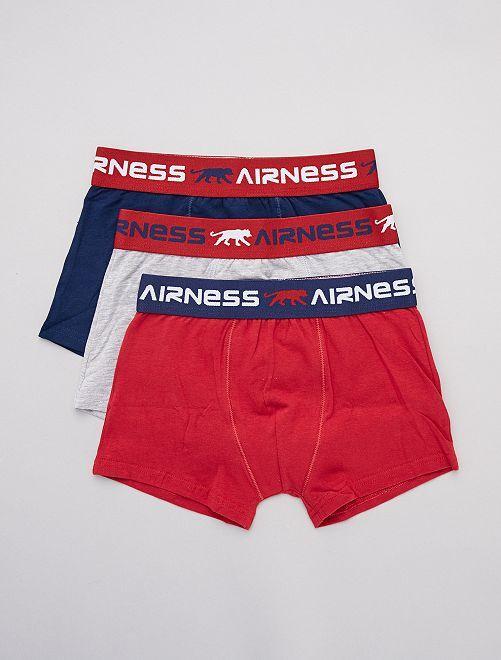 Lot de 3 boxers 'Airness'                             mne/gris/bdx