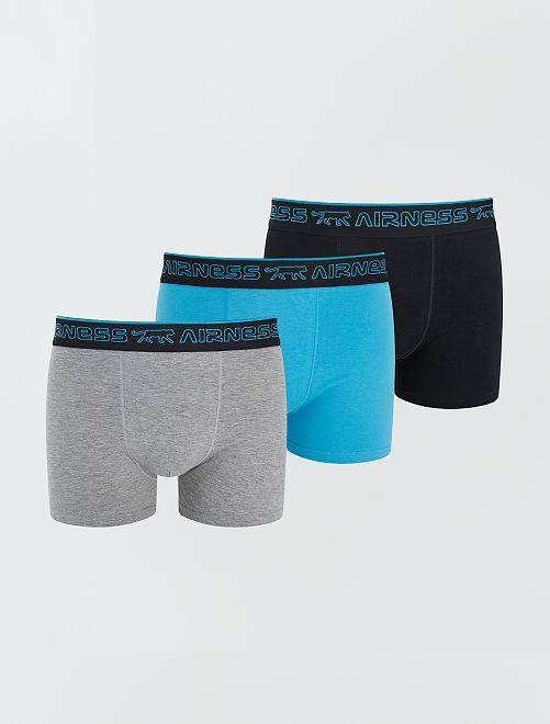 Lot de 3 boxers 'Airness'                                         turquoise