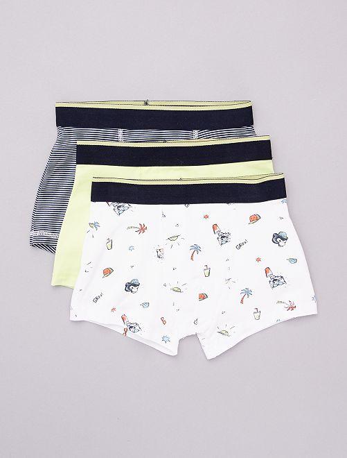Lot de 3 boxers                                                                                                                                                                                                                                                                 blanc/vert/noir