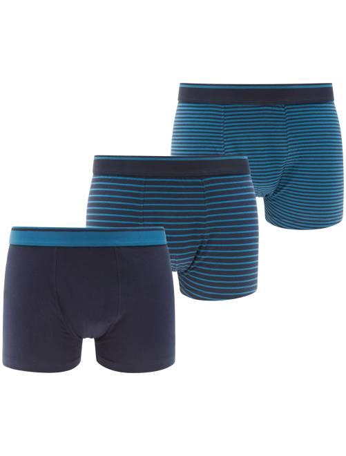 Lot de 3 boxers                             bleu marine Homme