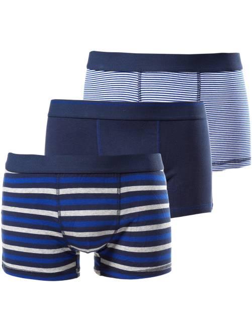 Lot de 3 boxers                                             bleu rayé