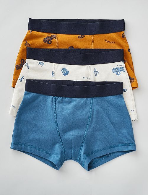 Lot de 3 boxers                                                                                                                                                                                                                                                                                         bleu/gris/marron