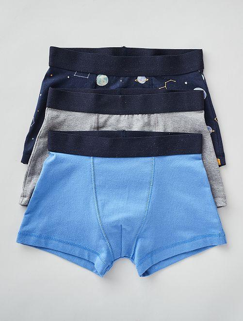 Lot de 3 boxers                                                                                                                                                                                                                                                                 bleu/marine/gris