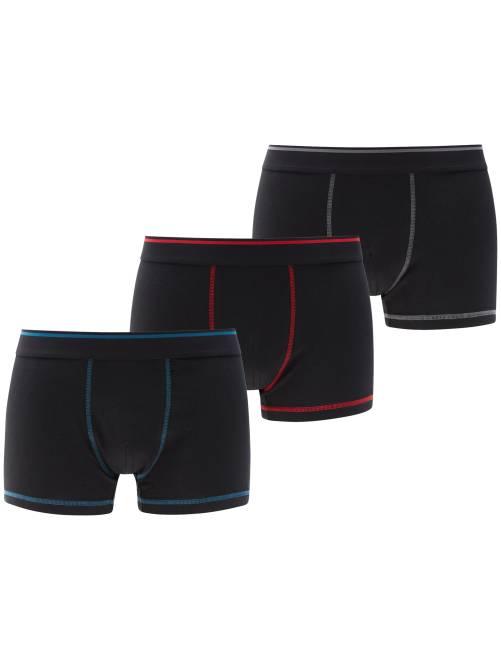 Lot de 3 boxers                                                                 bleu/rouge/gris Homme