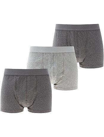Lot de 3 boxers chinés unis grande