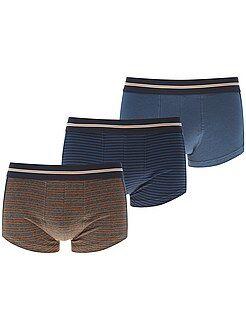 Sous-vêtements - Lot de 3 boxers courts - Kiabi