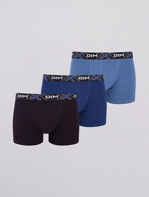 Lot de 3 boxers 'DIM'                                         bleu/marine/noir