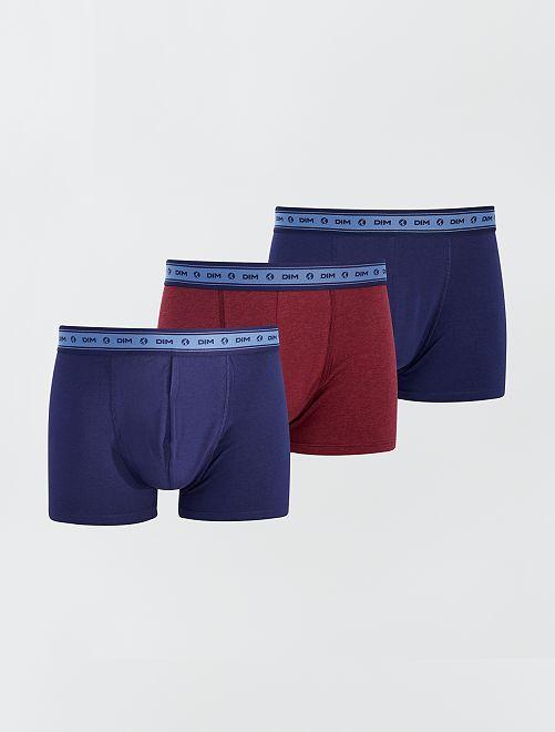 Lot de 3 boxers 'Dim' éco-conçu                                         marine