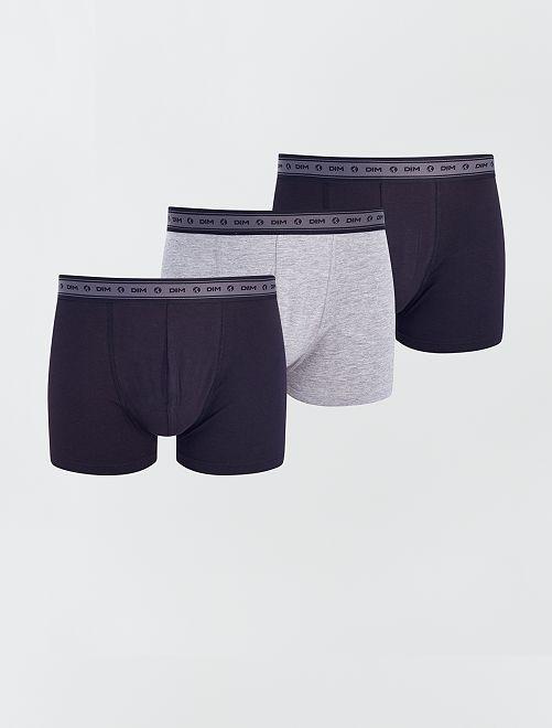 Lot de 3 boxers 'Dim' éco-conçu                                         noir