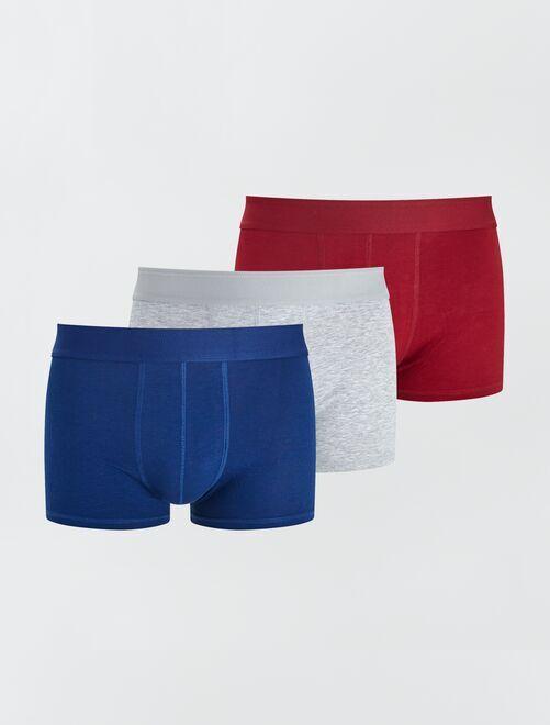 Lot de 3 boxers éco-conçus                                                                                                                             ble/gr/rge