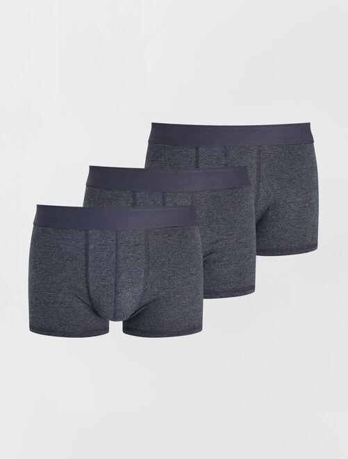 Lot de 3 boxers éco-conçus                                                                                                                             gris