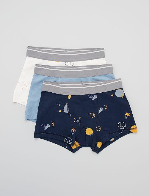 Lot de 3 boxers                                                                                                                                                                                                                                                                                                                                                     écru/bleu/marine
