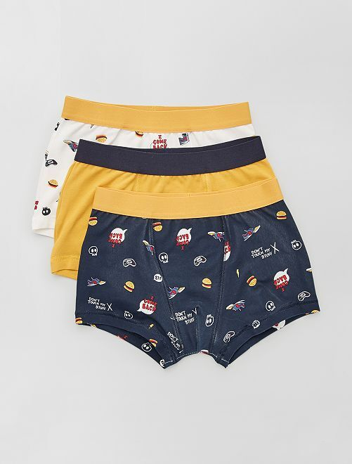 Lot de 3 boxers                                                                                                                                                                                                                                                                                                                                         écru/jaune/marine