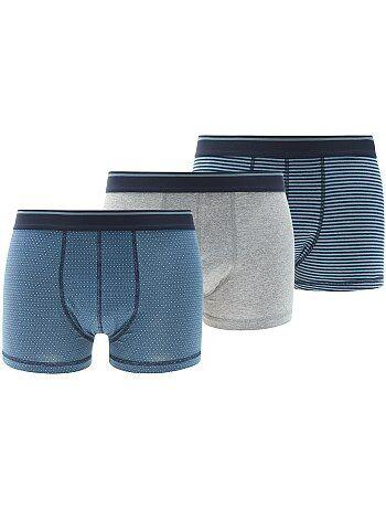 Lot de 3 boxers en coton stretch
