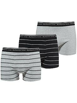 Lot de 3 boxers en coton stretch